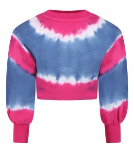 Multicolor sweatshirt for girl with logo