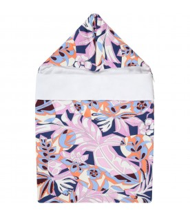 Multicolor sleeping bag for baby girl