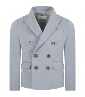 Light blue jacket for kids with clouds