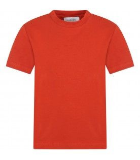 Orange t-shirt for kids with  hot air balloon