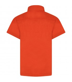 Orange shirt for kids with hot-air ballon