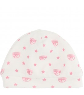 White hat for baby girl