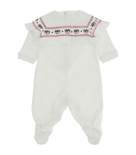 White jumpsuit for baby girl