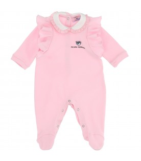 Pink jumpsuit for baby girl