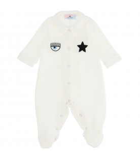 White jumpsuit for babykids