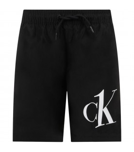Black swim short for boy
