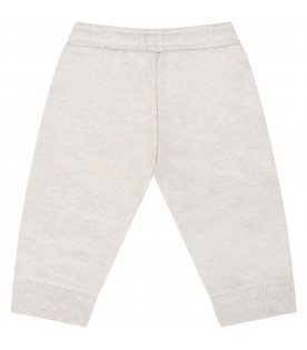 Beige sweatpant for baby girl