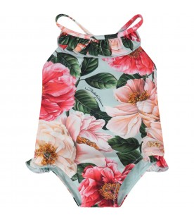Multicolor swimsuit for babygirl