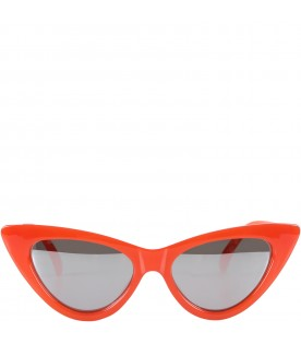 Orange girl sunglasses