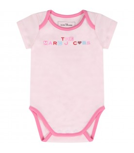 Set multicolor for baby girl with logo