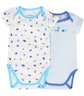Set multicolor for baby boy with logo