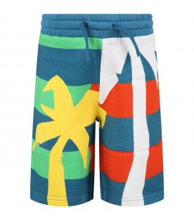 Multicolro shorts for boy with palm trees