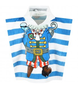 Multicolor robe for boy with pirate