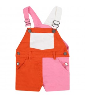 Multicolor dungarees for baby girl