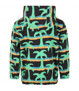 Black jacket for kids with palms