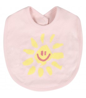 Pink set for baby girl with suns