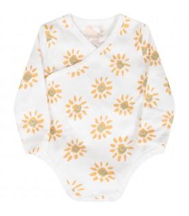 White set for baby kids with sun