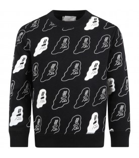 Black sweatshirt for kids with ghosts