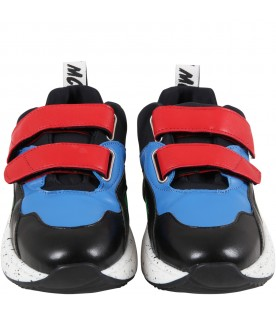Multicolor sneakers for kids with logo