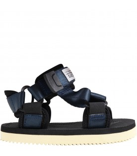 """Blue """"Depa"""" sandals for kids with logo"""