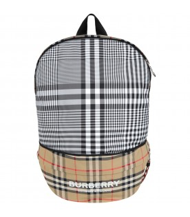 Beige bum bag for kids with logo
