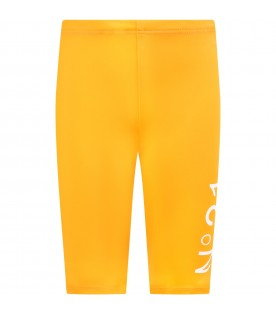 Orange cyclists short for girl with logo