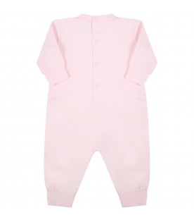 Pink suit for baby girl with iconic tiger