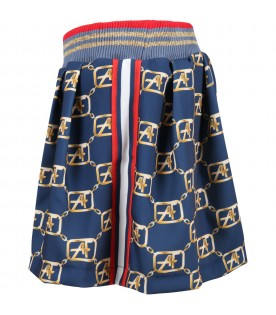 Blue short for girl with logos