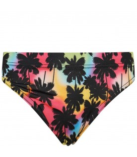 Multicolor swimsuit for boy with logo
