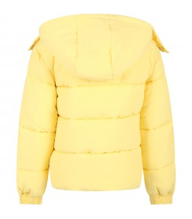 Yellow jacket for kids with logo