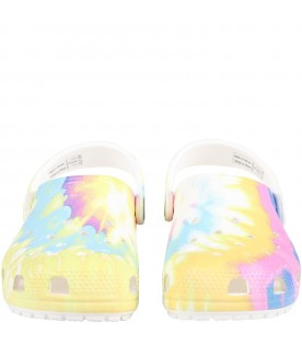 Multicolor sabot for kids with logo