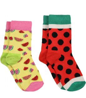 Multicolor set for kids with watermelons