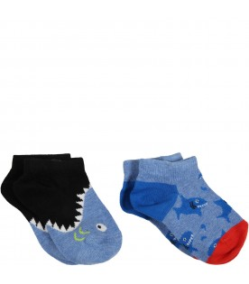 Light blue set for baby boy with sharks