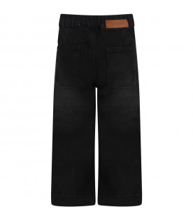 """Black """"Alyna"""" jeans for girl with logo"""