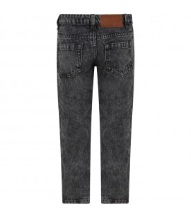 Black jeans for kids with logo