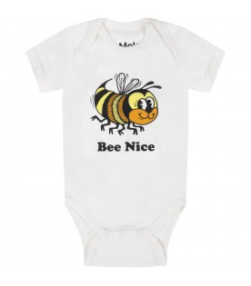 White ''Fawl'' body for baby kids with bee