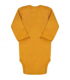 Orange ''Foss'' body for baby kids with smile