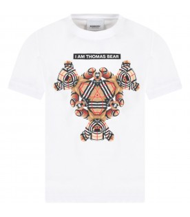 White T-shirt for kids with bears
