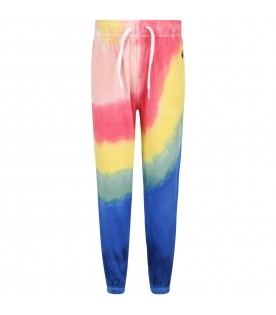 Multicolor sweatpant for kids with pony logo