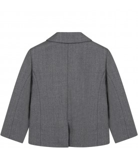Grey jacket for baby kids