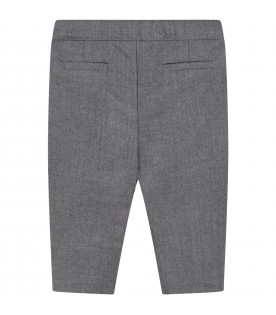 Gray trousers for baby girl