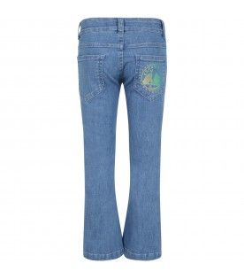 Blue jeans denim for girl with logo