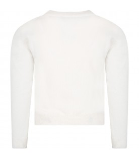 Ivory sweater fo girl with iconic bell