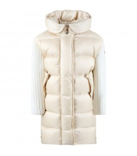 Beige ''Katiefe'' jacket for girl with iconic patch