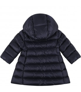 Blue ''Majeure'' jacket for baby girl with patch