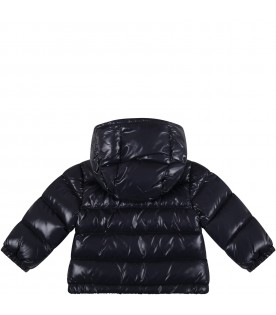 Blue  ''New Aubert'' jacket for baby boy with iconic patch