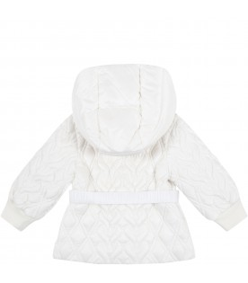 White ''Suher'' jacket for baby girl