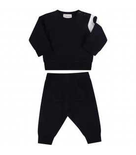 Blue tracksuit for baby kids with patch