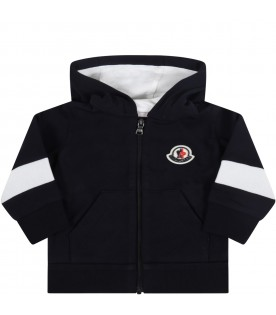 Blue sweatshirt for baby kids with iconic patch