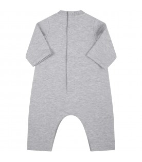 Grey babygrow for baby kids with logo